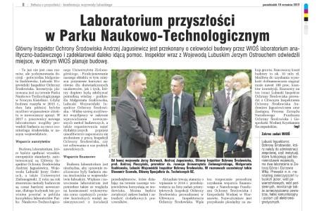 Laboratorium WIOŚ Zielona Góra