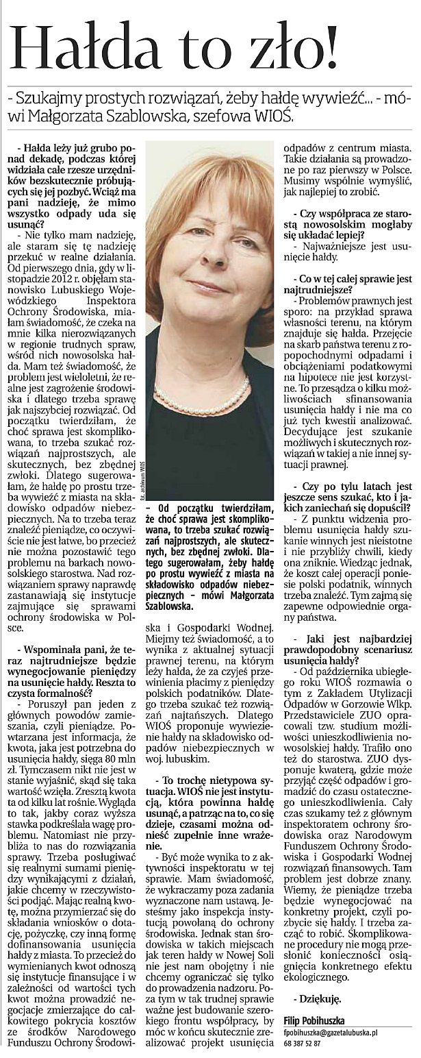 20140117 - GL - wywiad mszablowska