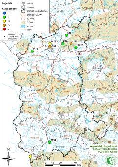 Mapa - wody podziemne 2014