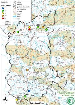Mapa - wody podziemne 2015