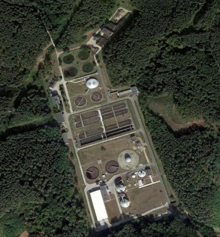 Zdj. 2 Oczyszczalnia aglomeracji Gorzów Wlkp. (źródło: Google Earth)