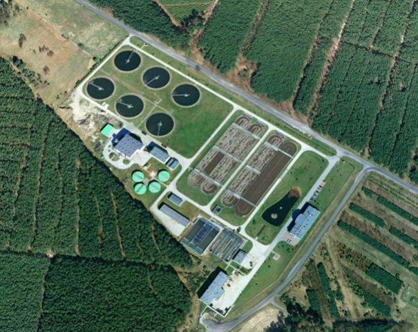 Zdj. 1 Oczyszczalnia aglomeracji Zielona Góra (źródło: Google Earth)