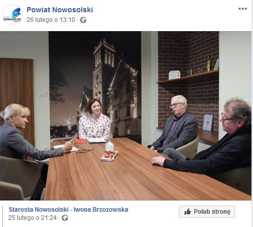 Źródło: Facebook Powiat Nowosolski