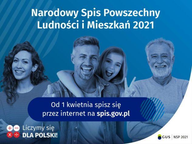 Plakat Narodowy Spis Powszechny Ludności i Mieszkań 2021