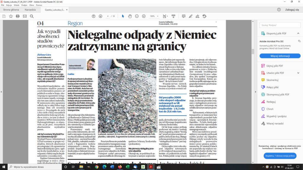 Gazeta Lubuska 07.06.2021 r.