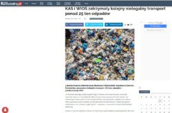 Artykuł w serwisie PortalKomunalny.pl KAS i WIOŚ zatrzymały kolejny nielegalny transport ponad 25 ton odpadów